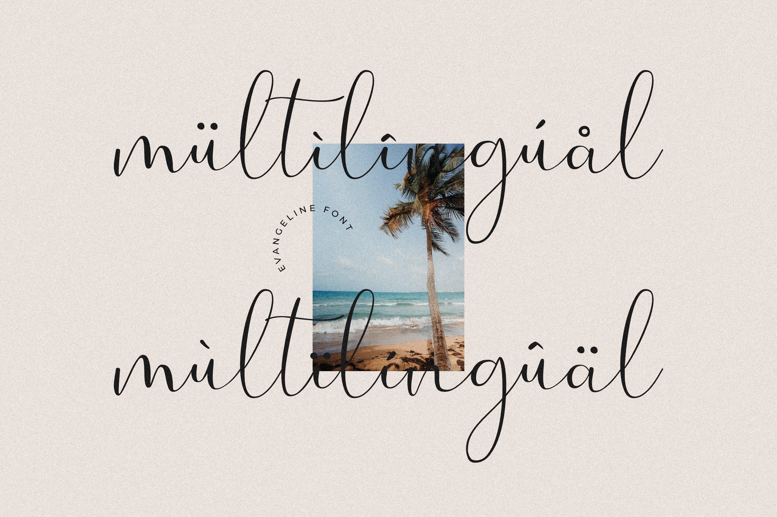现代优雅品牌徽标Logo手写英文字体设计素材 Evangelina Font插图8