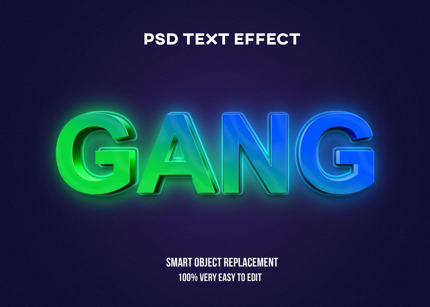 [单独购买] 80款炫彩3D立体海报标题Logo特效字体设计PS样机素材 30 Text Effect Bundle插图24