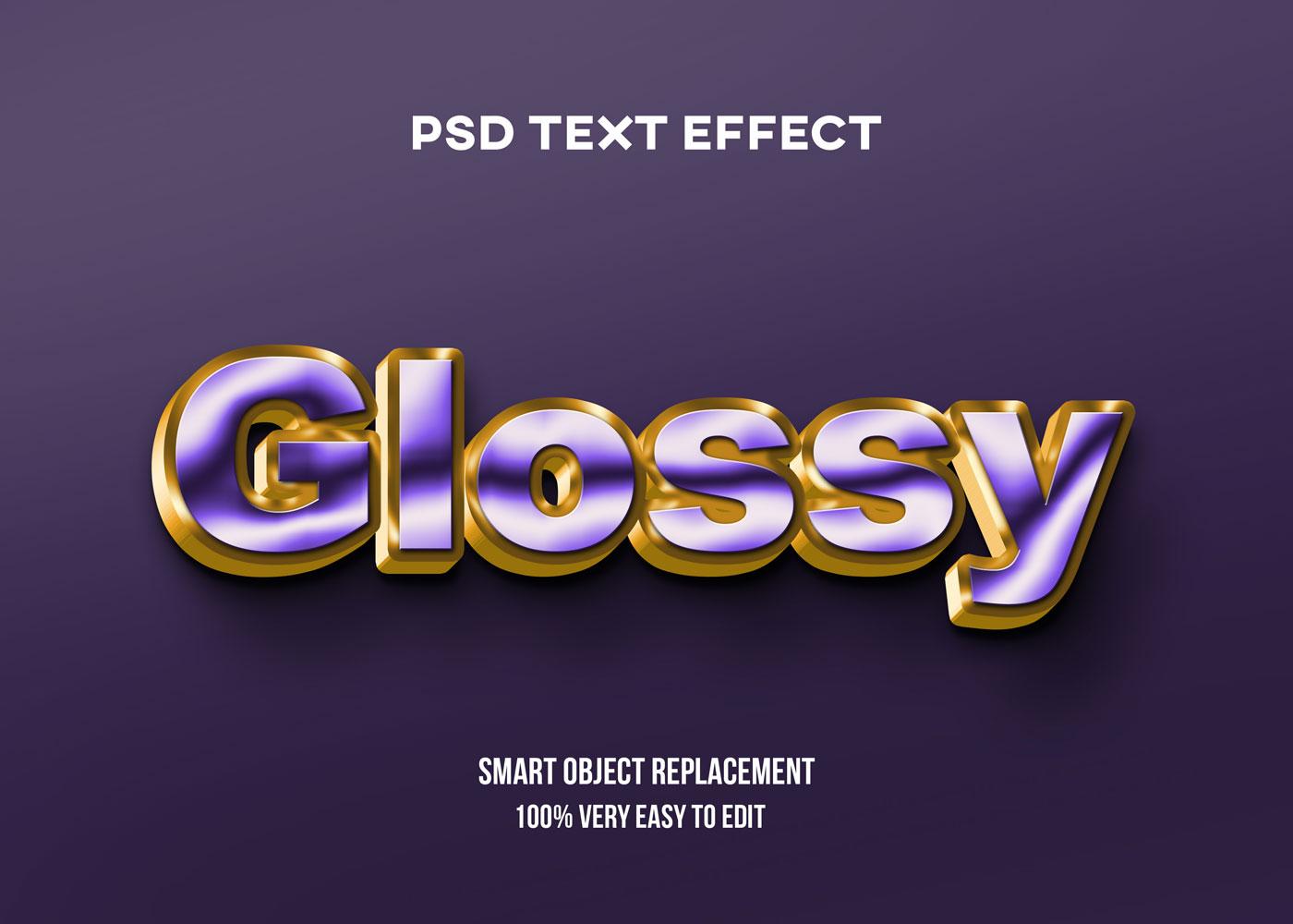 [单独购买] 80款炫彩3D立体海报标题Logo特效字体设计PS样机素材 30 Text Effect Bundle插图26