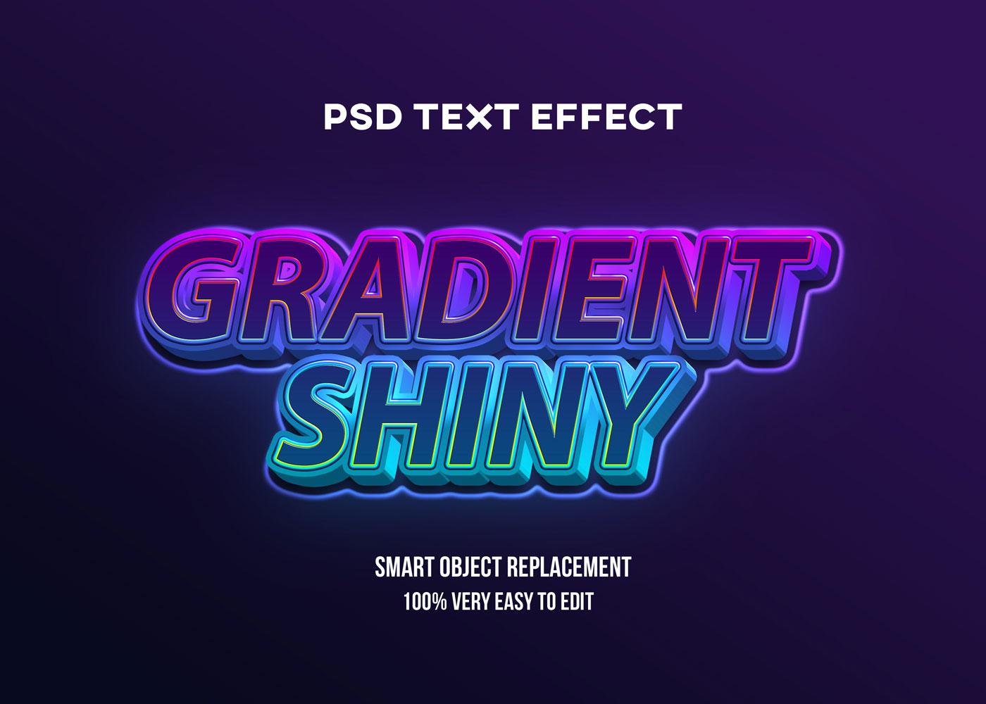[单独购买] 80款炫彩3D立体海报标题Logo特效字体设计PS样机素材 30 Text Effect Bundle插图30