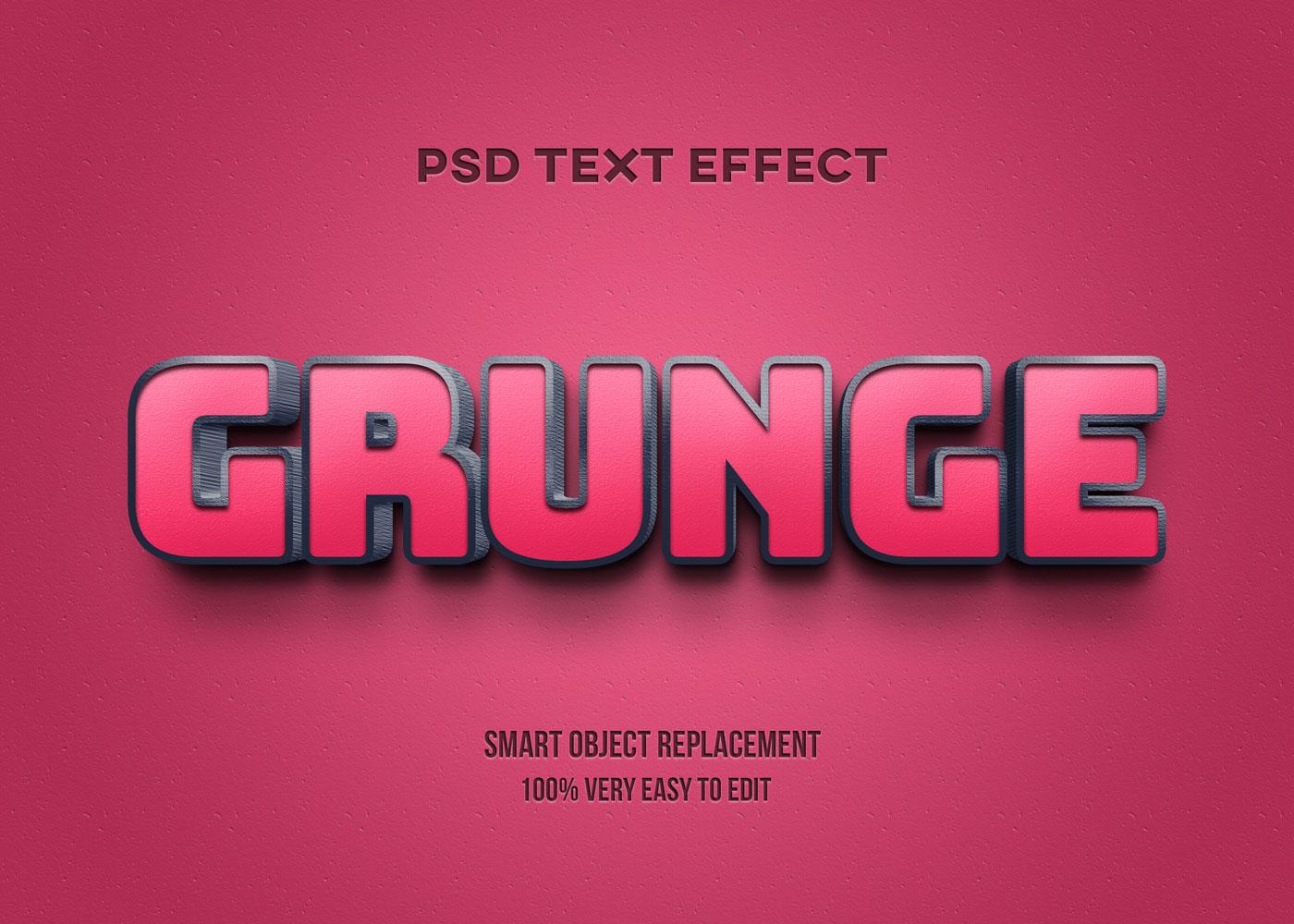 [单独购买] 80款炫彩3D立体海报标题Logo特效字体设计PS样机素材 30 Text Effect Bundle插图33