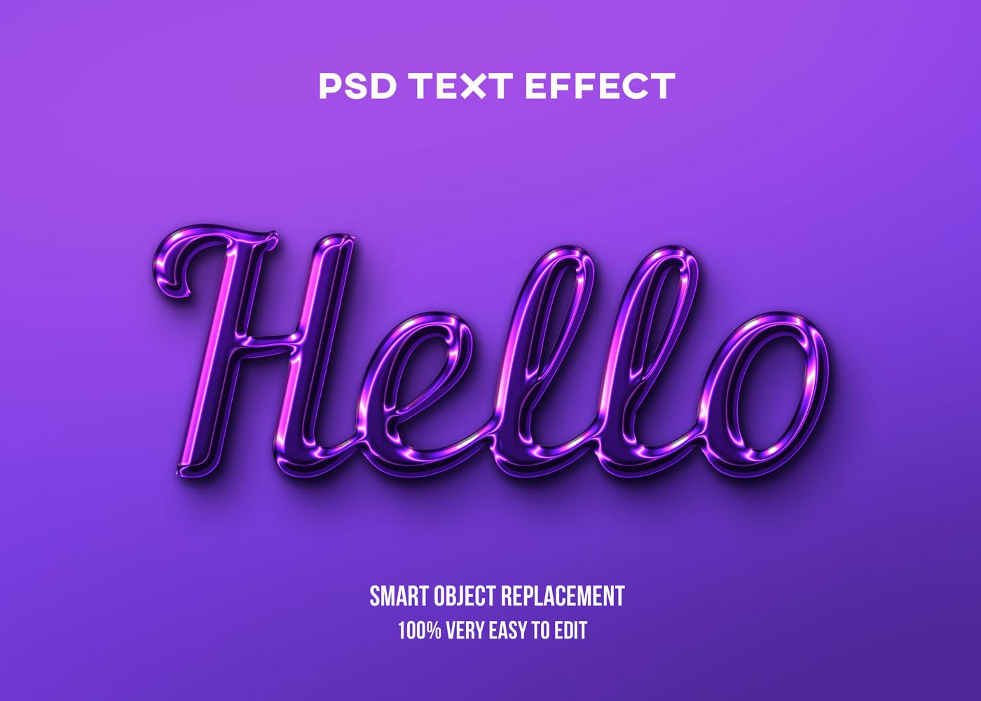 [单独购买] 80款炫彩3D立体海报标题Logo特效字体设计PS样机素材 30 Text Effect Bundle插图35