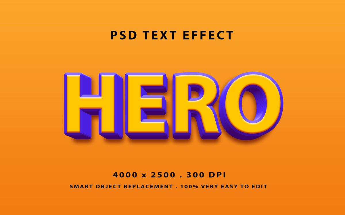 [单独购买] 80款炫彩3D立体海报标题Logo特效字体设计PS样机素材 30 Text Effect Bundle插图36
