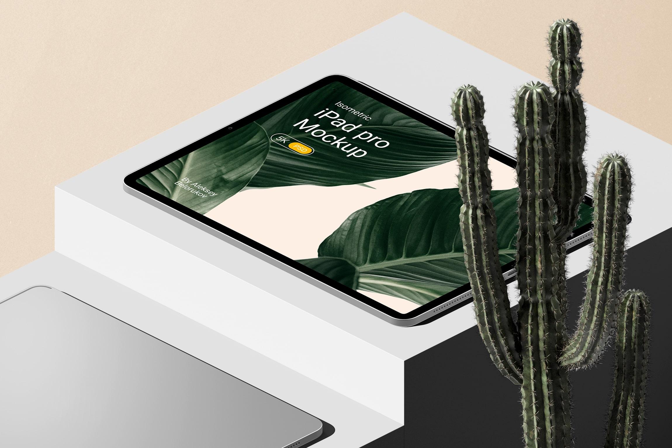 [单独购买] 16款时尚等距APP界面设计苹果设备屏幕演示场景样机模板套装 Device Pack Mockups – Isometric插图10