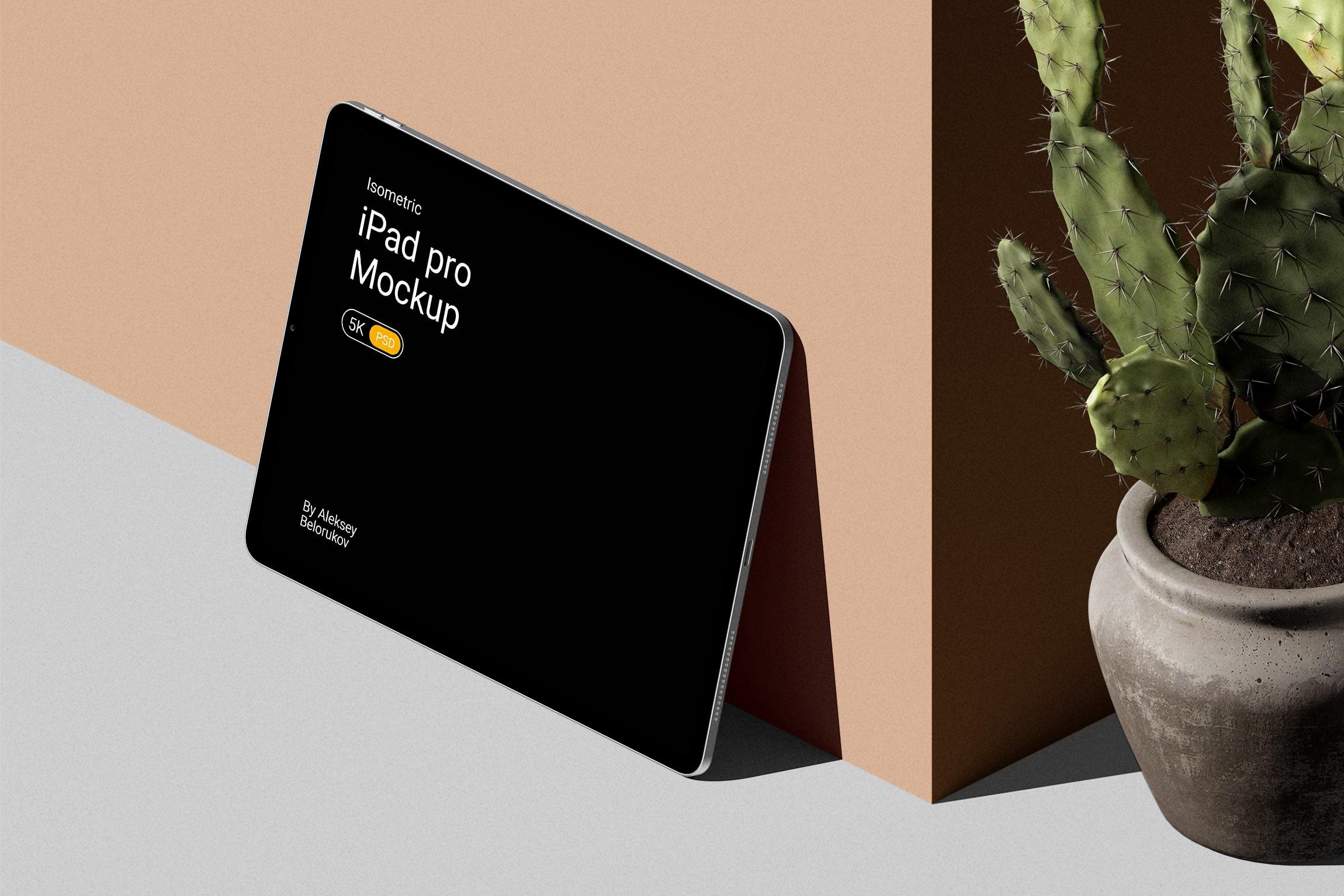 [单独购买] 16款时尚等距APP界面设计苹果设备屏幕演示场景样机模板套装 Device Pack Mockups – Isometric插图11