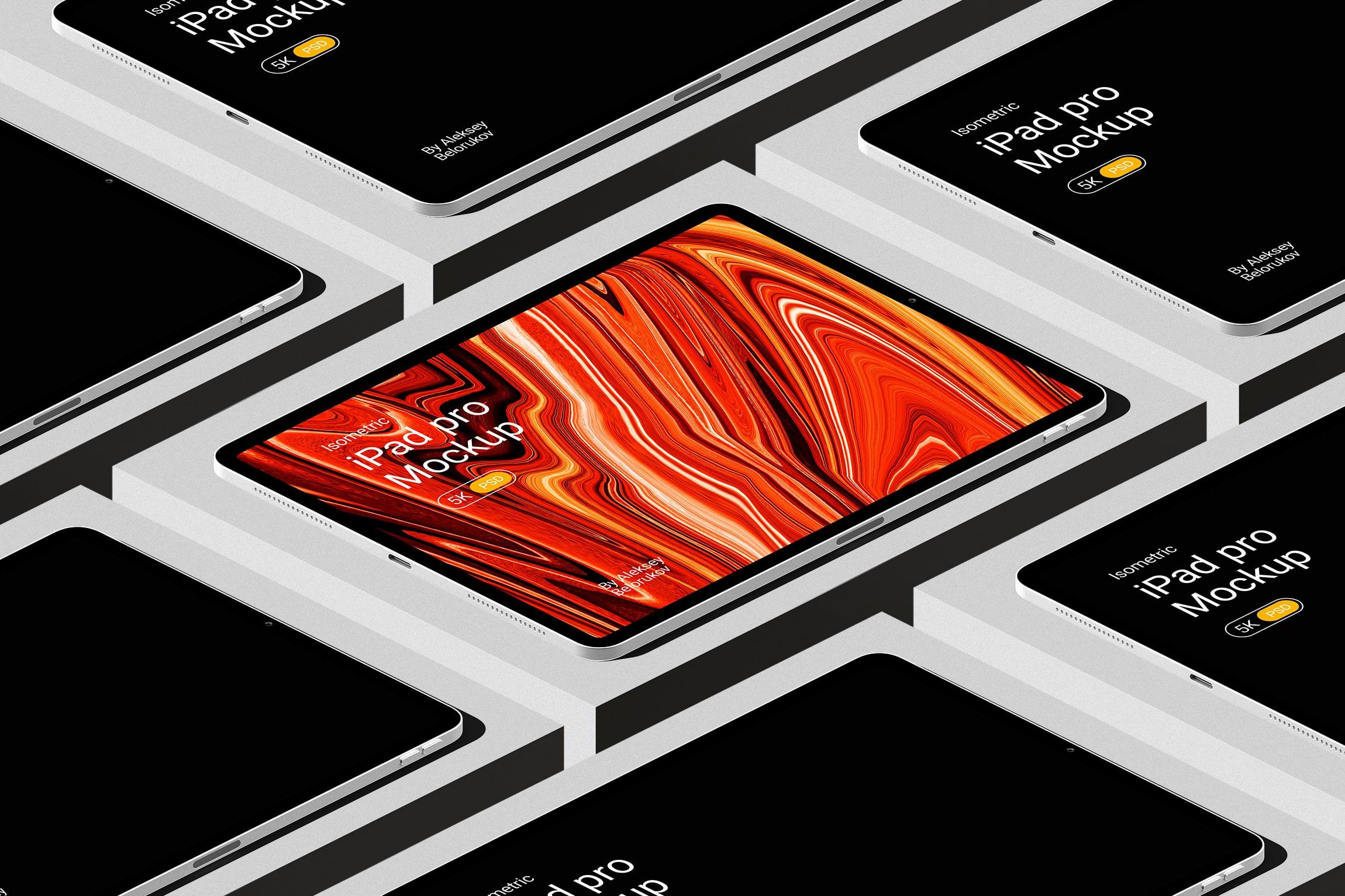 [单独购买] 16款时尚等距APP界面设计苹果设备屏幕演示场景样机模板套装 Device Pack Mockups – Isometric插图9