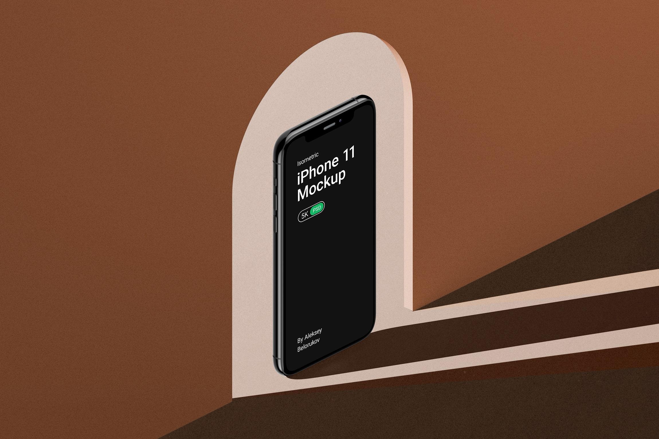 [单独购买] 16款时尚等距APP界面设计苹果设备屏幕演示场景样机模板套装 Device Pack Mockups – Isometric插图13