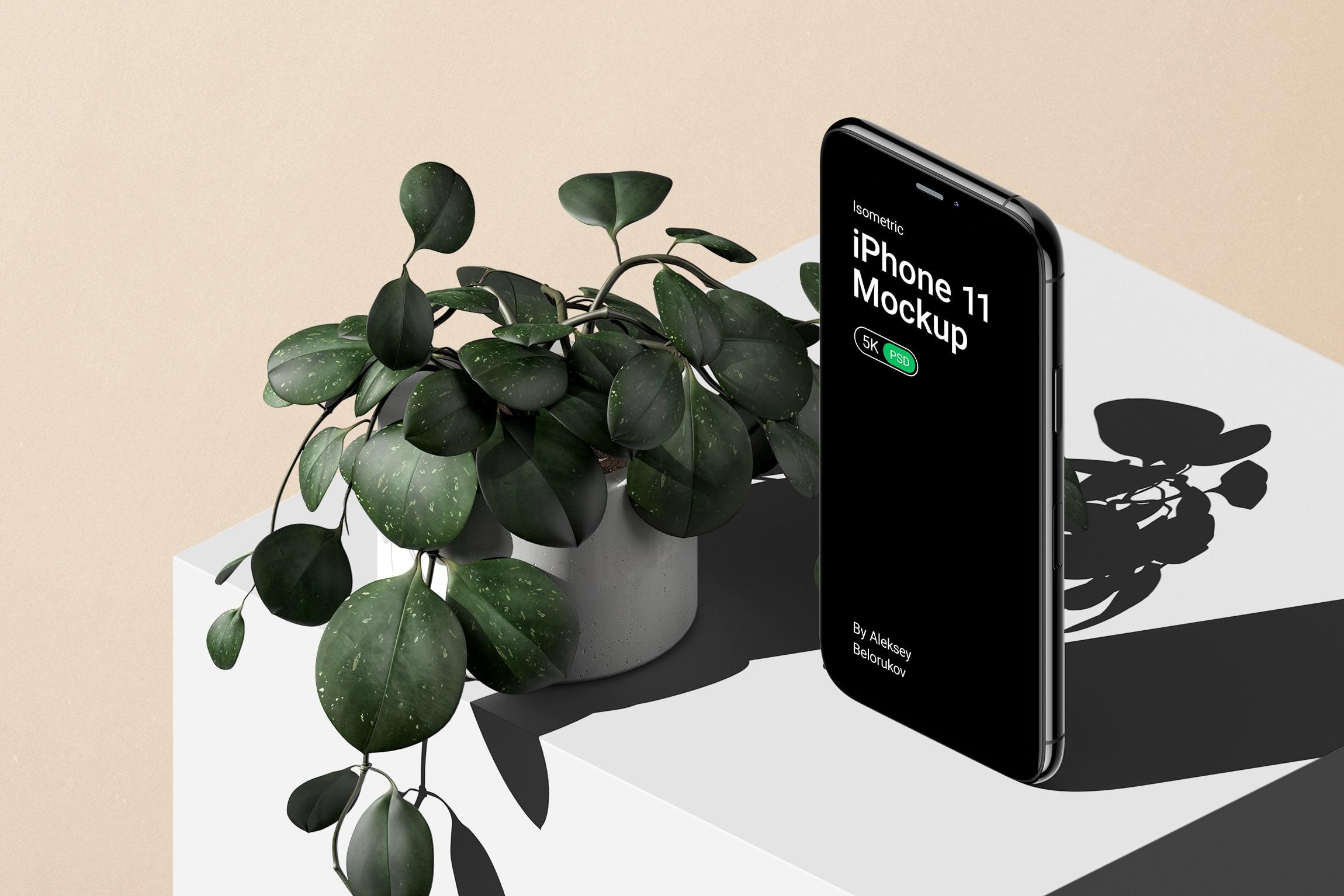 [单独购买] 16款时尚等距APP界面设计苹果设备屏幕演示场景样机模板套装 Device Pack Mockups – Isometric插图14