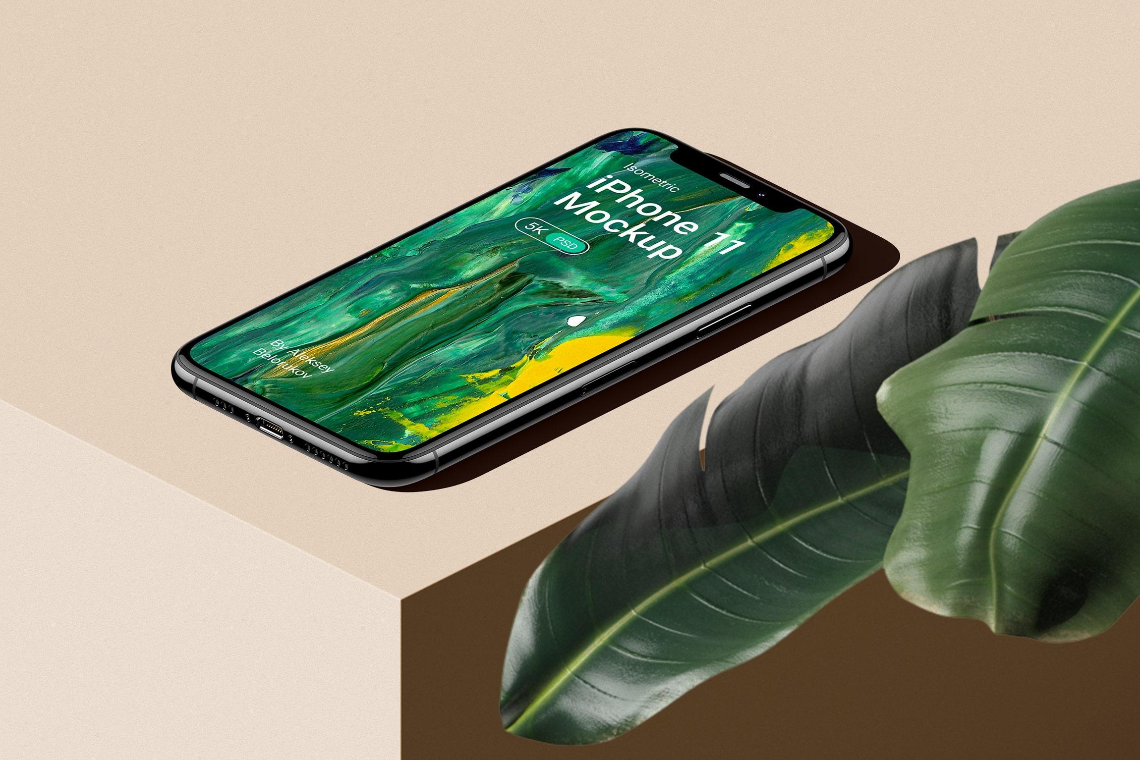 [单独购买] 16款时尚等距APP界面设计苹果设备屏幕演示场景样机模板套装 Device Pack Mockups – Isometric插图16