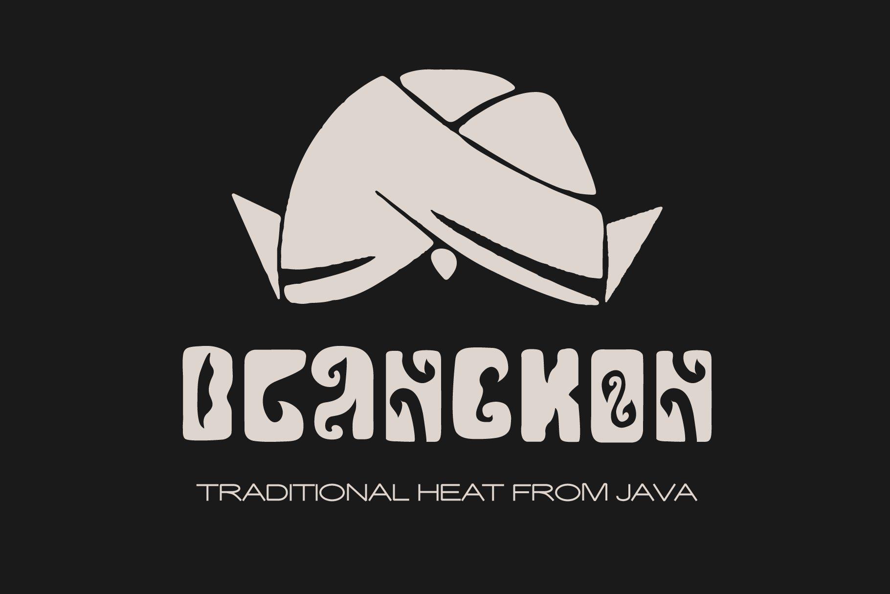 印度尼西亚风品牌徽标Logo海报标题设计手绘英文字体素材 Javanesia Font插图1