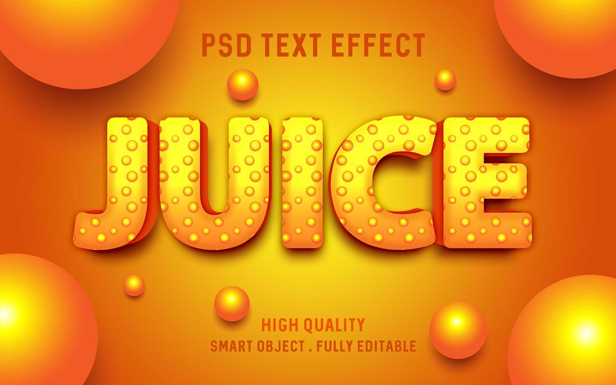 [单独购买] 80款炫彩3D立体海报标题Logo特效字体设计PS样机素材 30 Text Effect Bundle插图39