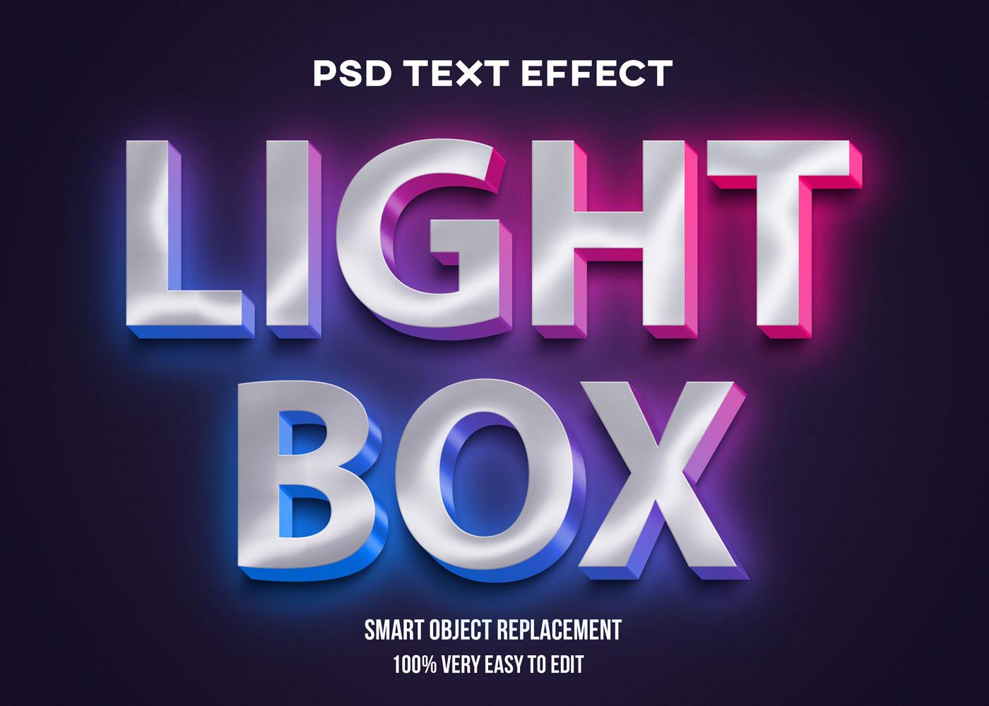 [单独购买] 80款炫彩3D立体海报标题Logo特效字体设计PS样机素材 30 Text Effect Bundle插图41
