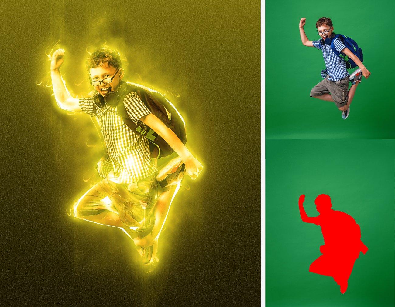 超炫能力发光效果照片处理特效PS动作素材 Light Photoshop Action插图12