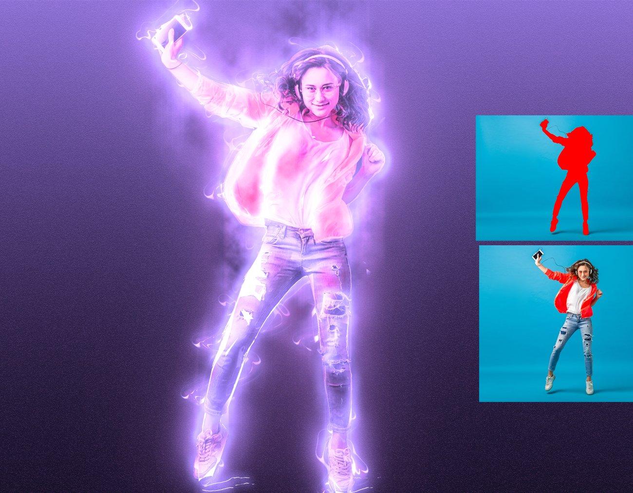 超炫能力发光效果照片处理特效PS动作素材 Light Photoshop Action插图13