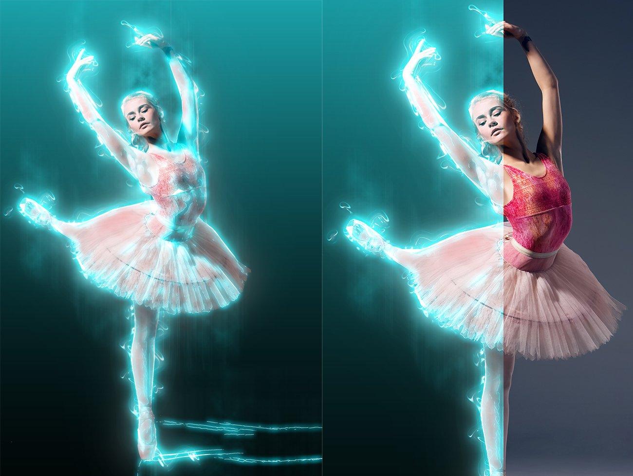 超炫能力发光效果照片处理特效PS动作素材 Light Photoshop Action插图2