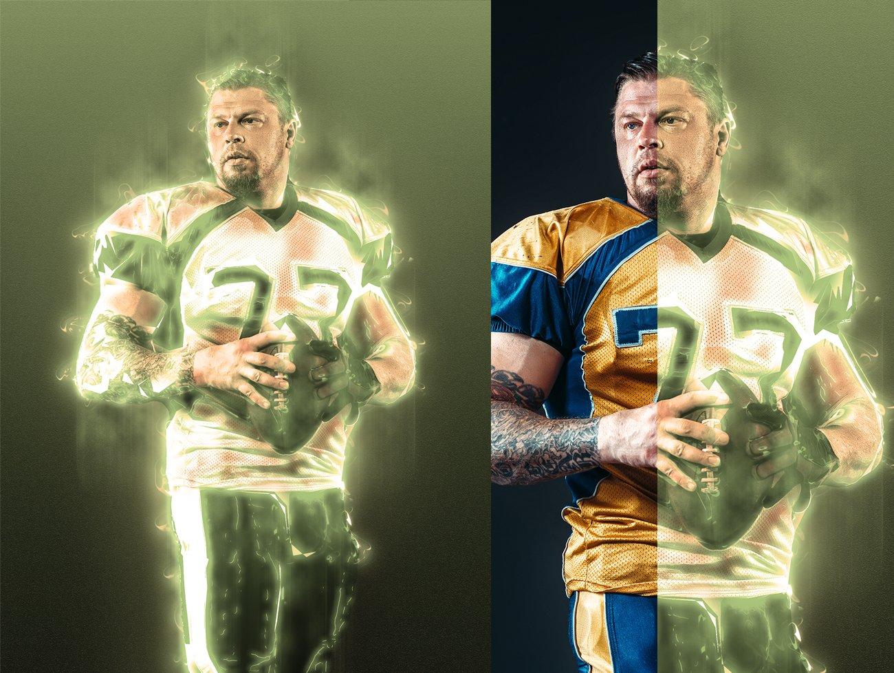 超炫能力发光效果照片处理特效PS动作素材 Light Photoshop Action插图4