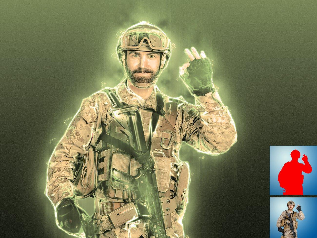 超炫能力发光效果照片处理特效PS动作素材 Light Photoshop Action插图6