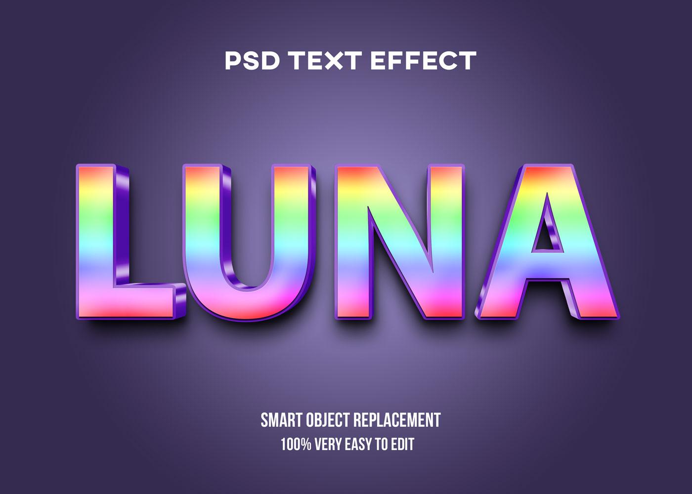 [单独购买] 80款炫彩3D立体海报标题Logo特效字体设计PS样机素材 30 Text Effect Bundle插图43