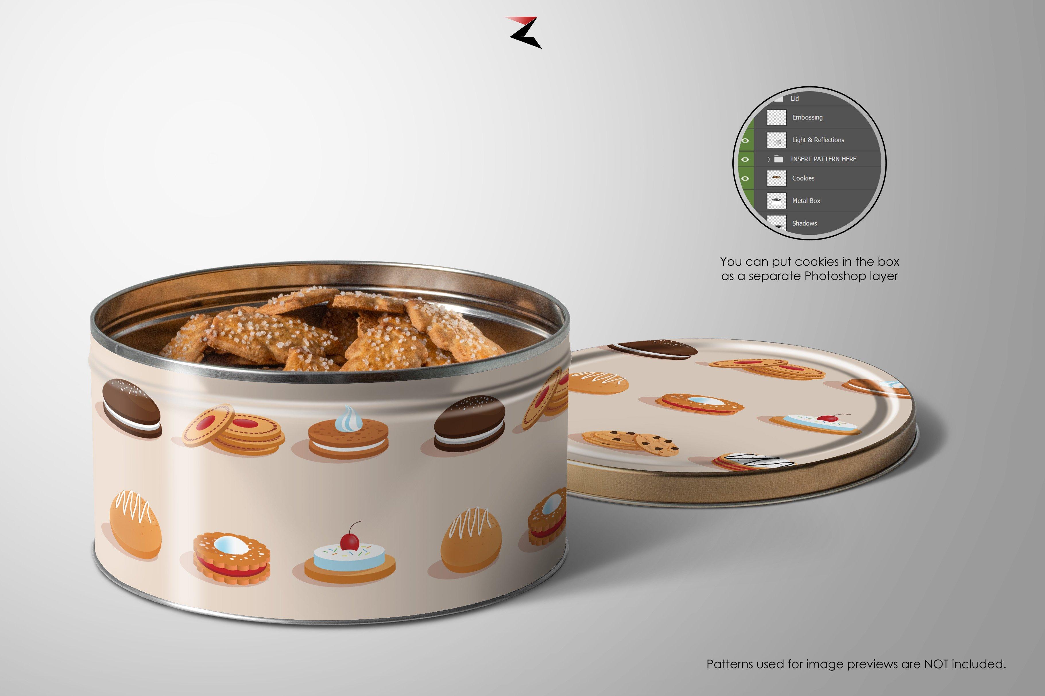 6K高清产品金属贴合外观设计展示样机 Metal Box Mockup 6K插图2