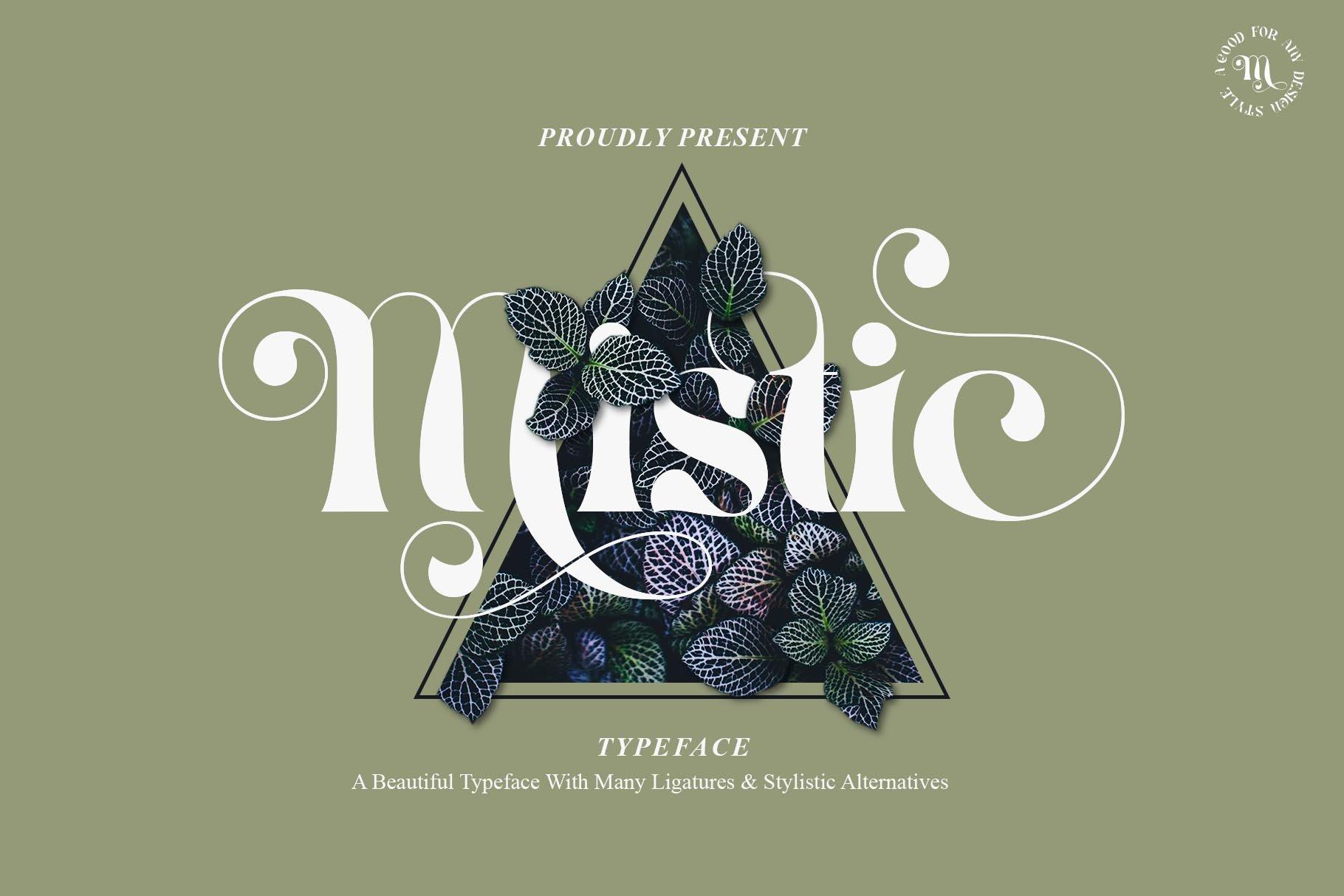 现代优雅杂志海报标题Logo设计衬线英文字体素材 Mistic Typeface插图