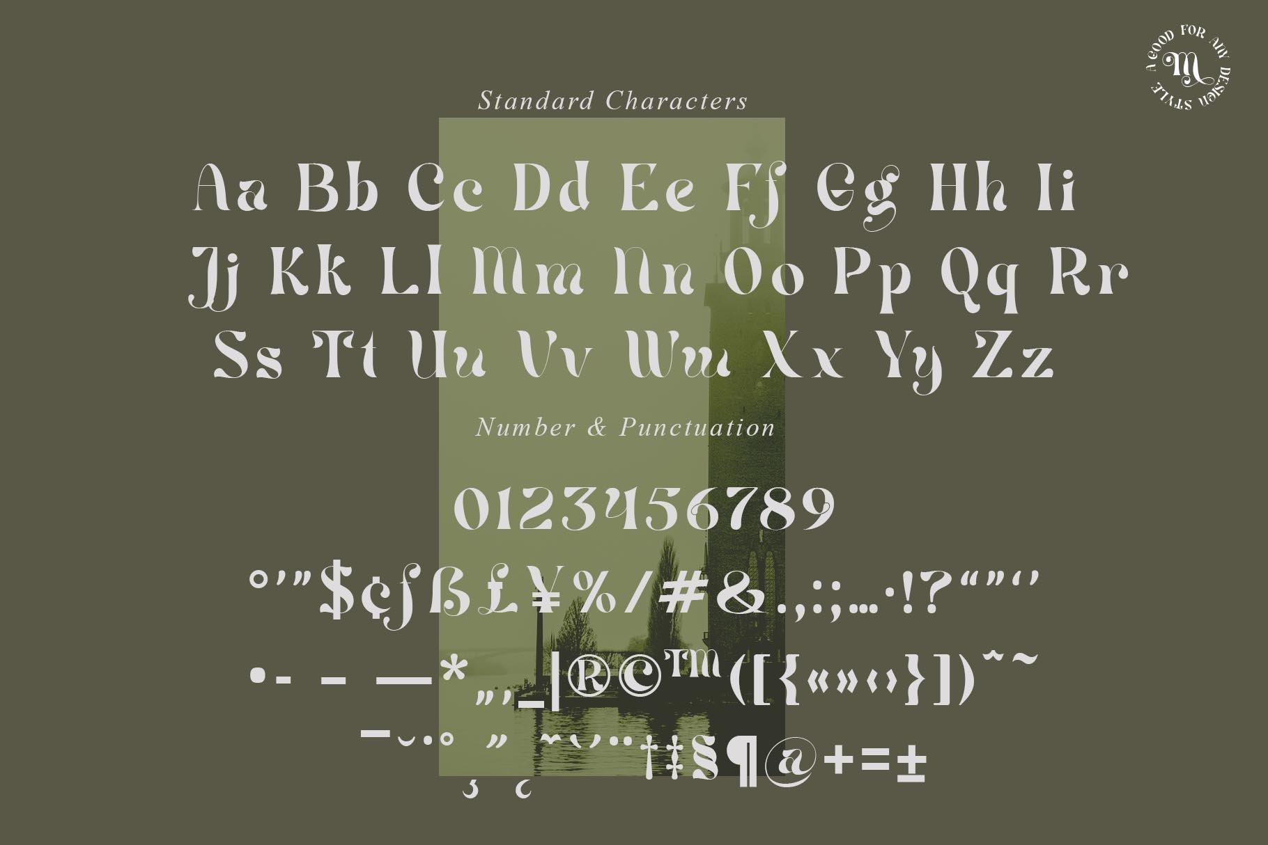 现代优雅杂志海报标题Logo设计衬线英文字体素材 Mistic Typeface插图8