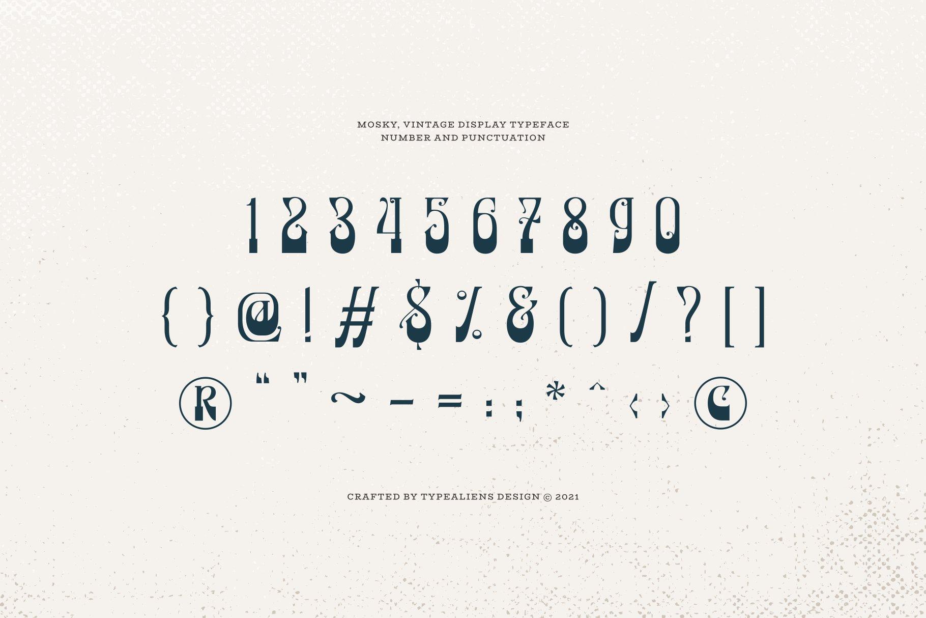 潮流复古逆反差酸性海报标题Logo衬线英文字体素材 Mosky Font插图7