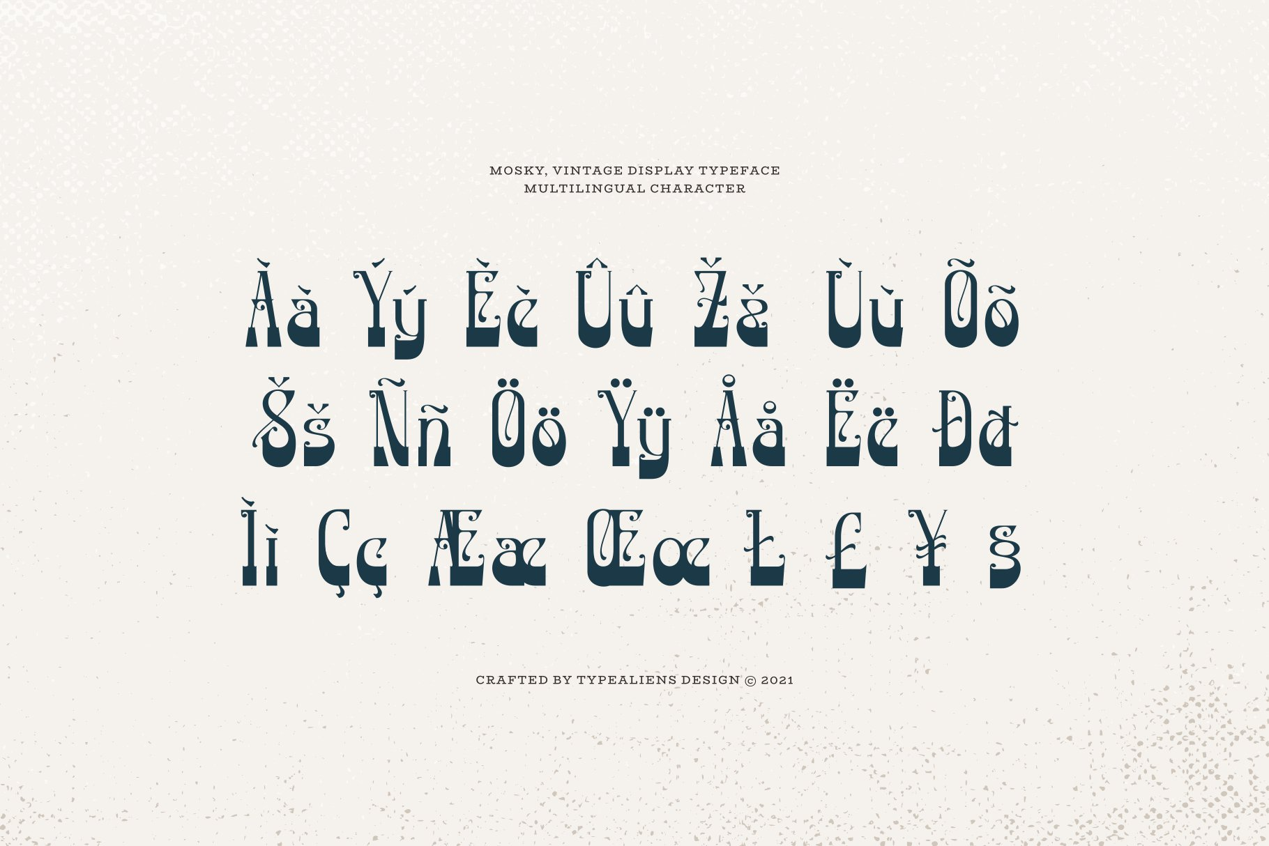 潮流复古逆反差酸性海报标题Logo衬线英文字体素材 Mosky Font插图8