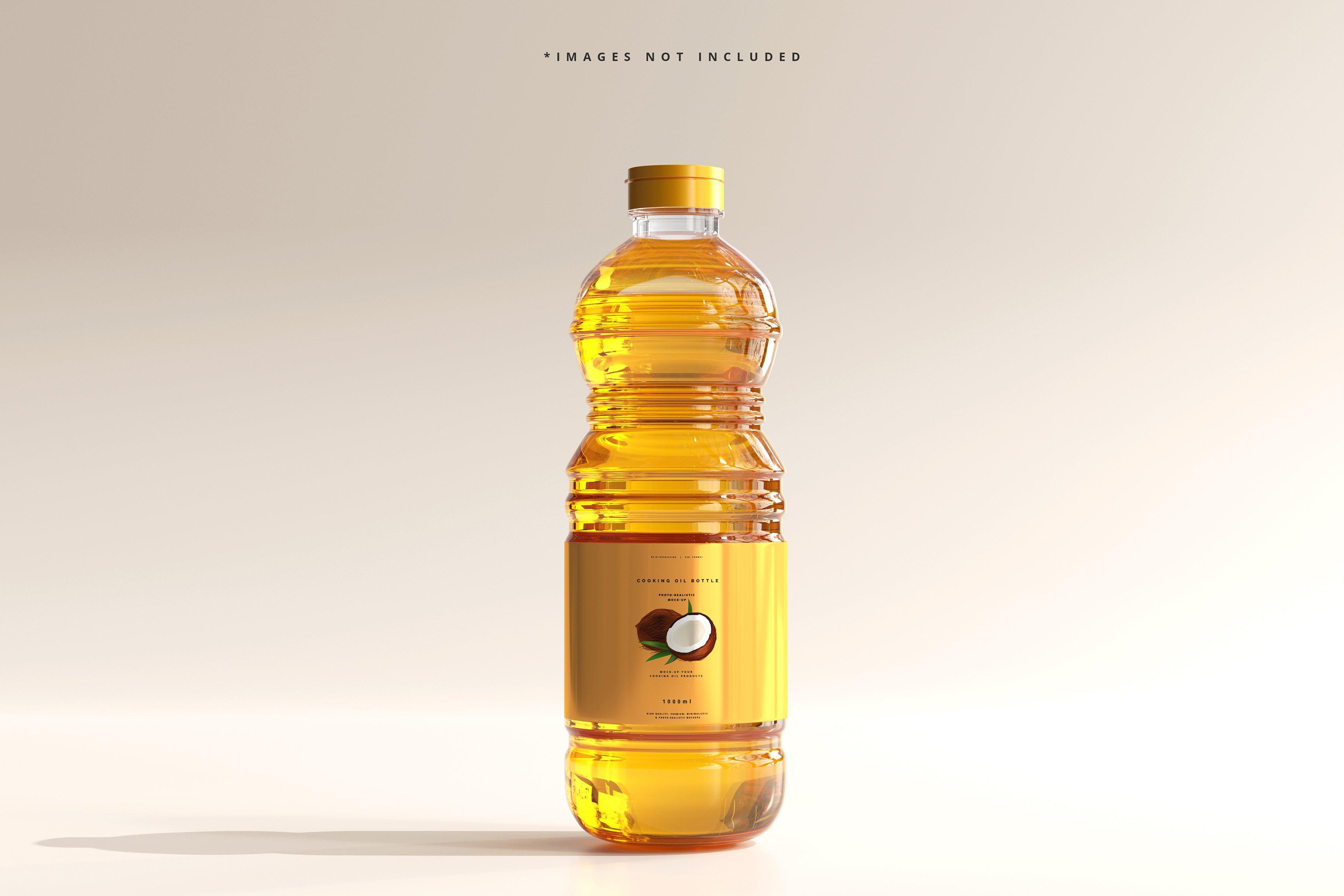 8款透明质感食用油塑料瓶设计展示贴图样机模板 Cooking Oil Bottle Mockup插图