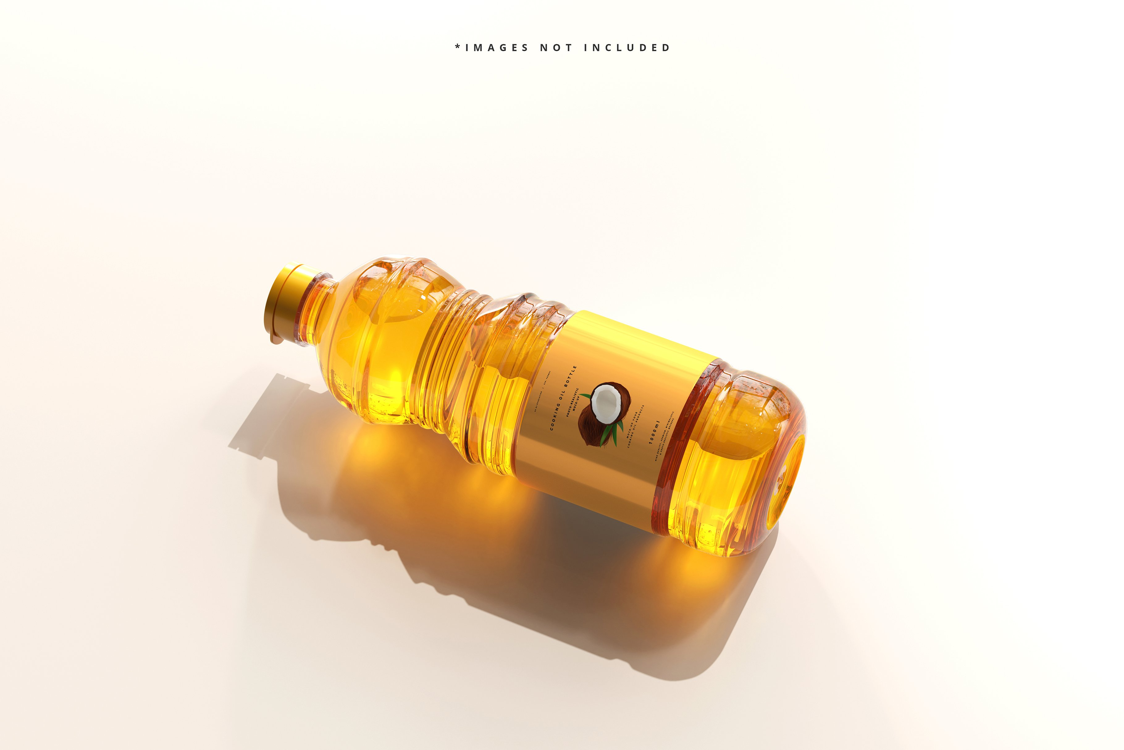 8款透明质感食用油塑料瓶设计展示贴图样机模板 Cooking Oil Bottle Mockup插图4