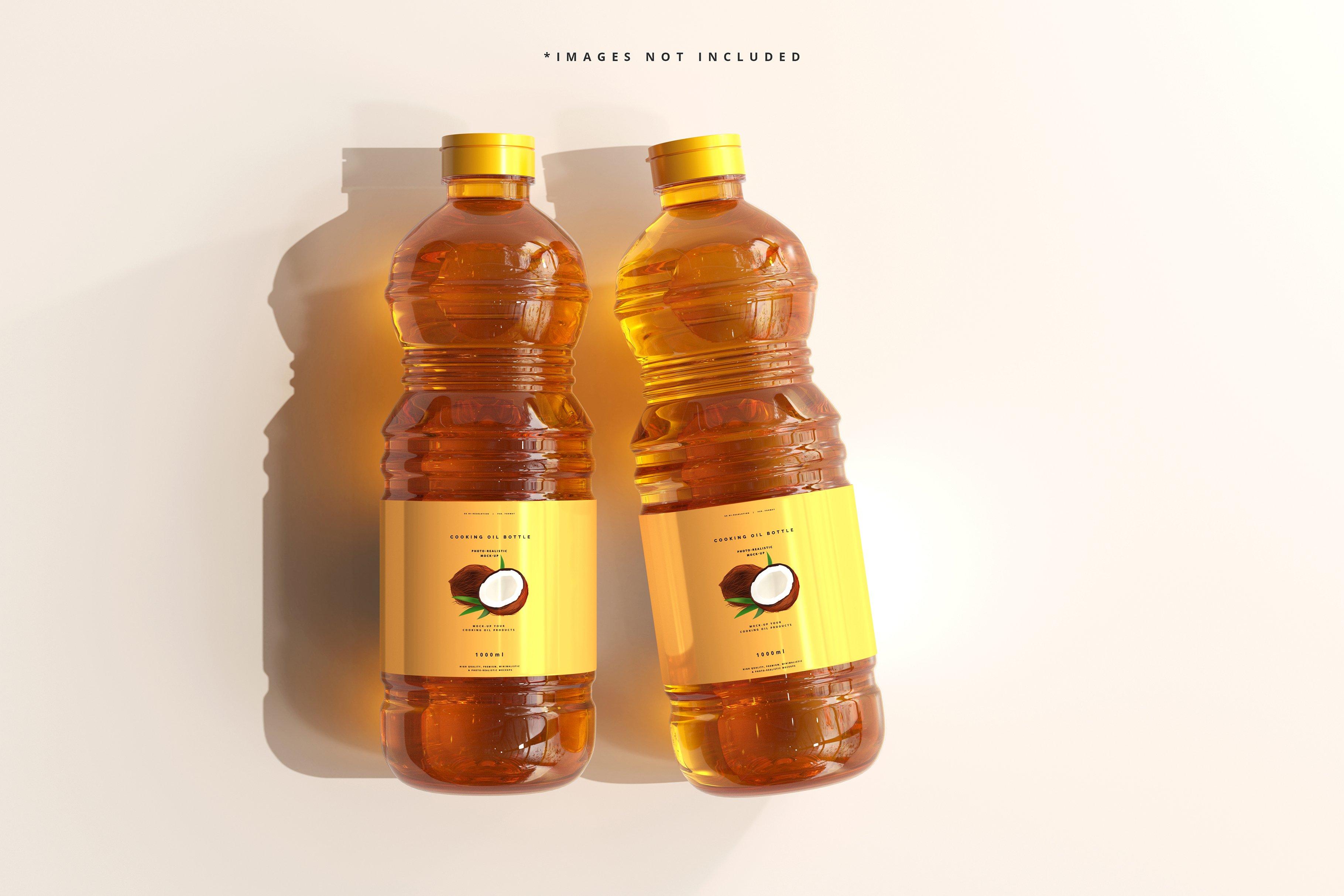8款透明质感食用油塑料瓶设计展示贴图样机模板 Cooking Oil Bottle Mockup插图6