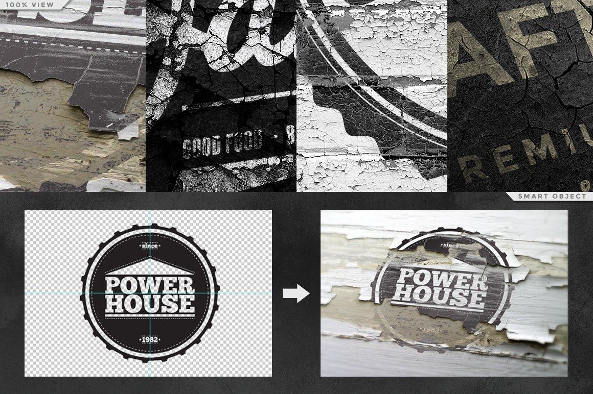 12个复古做旧徽标Logo设计展示样机模板 Vintage Logo Mock-ups插图4