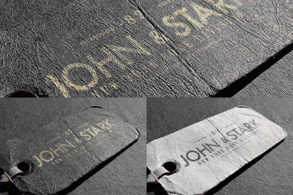 10款皮革标签徽标Logo设计PS贴图样机模板 Logo Mock-ups Vol.3插图4