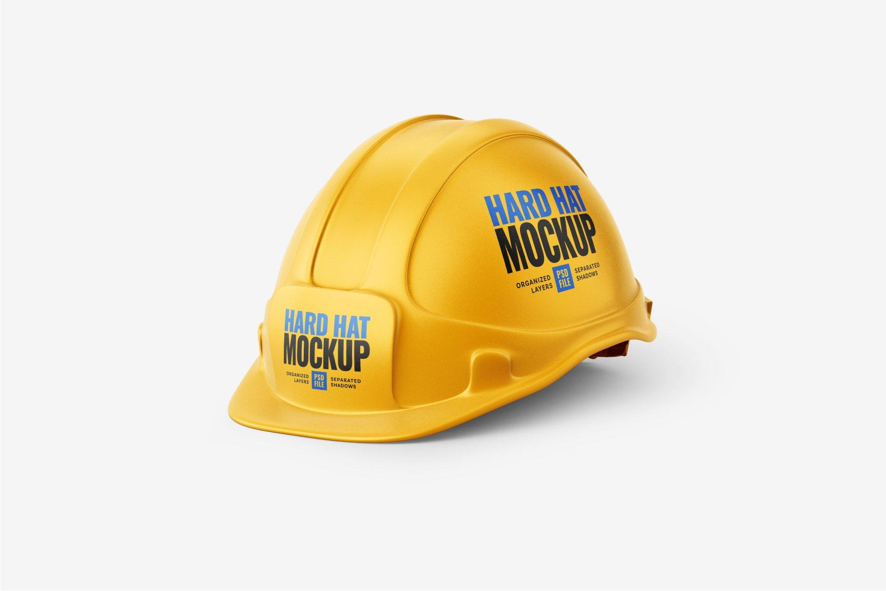 8款逼真工程安全帽头盔设计样机PSD模板素材 Construction Hard Hat Mockup Set插图7
