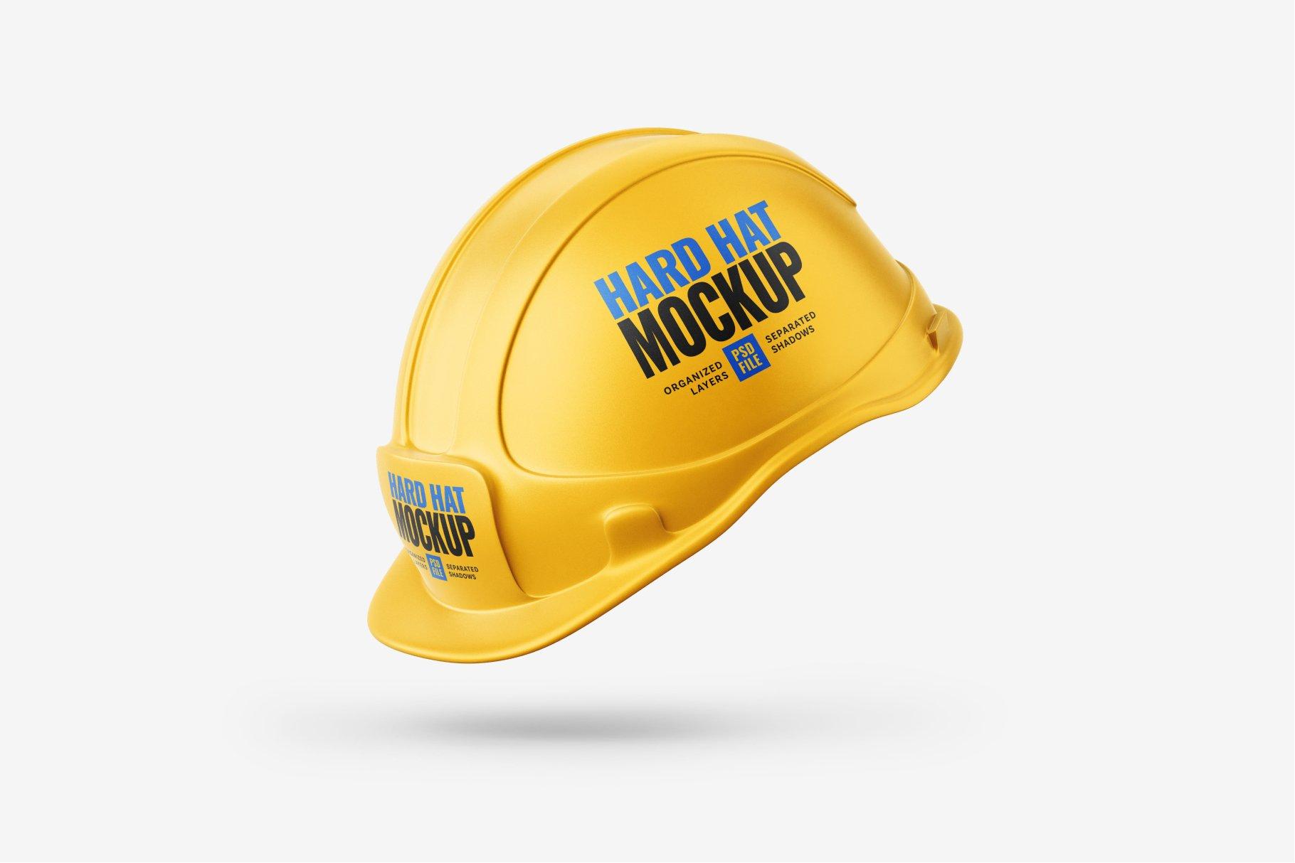 8款逼真工程安全帽头盔设计样机PSD模板素材 Construction Hard Hat Mockup Set插图8