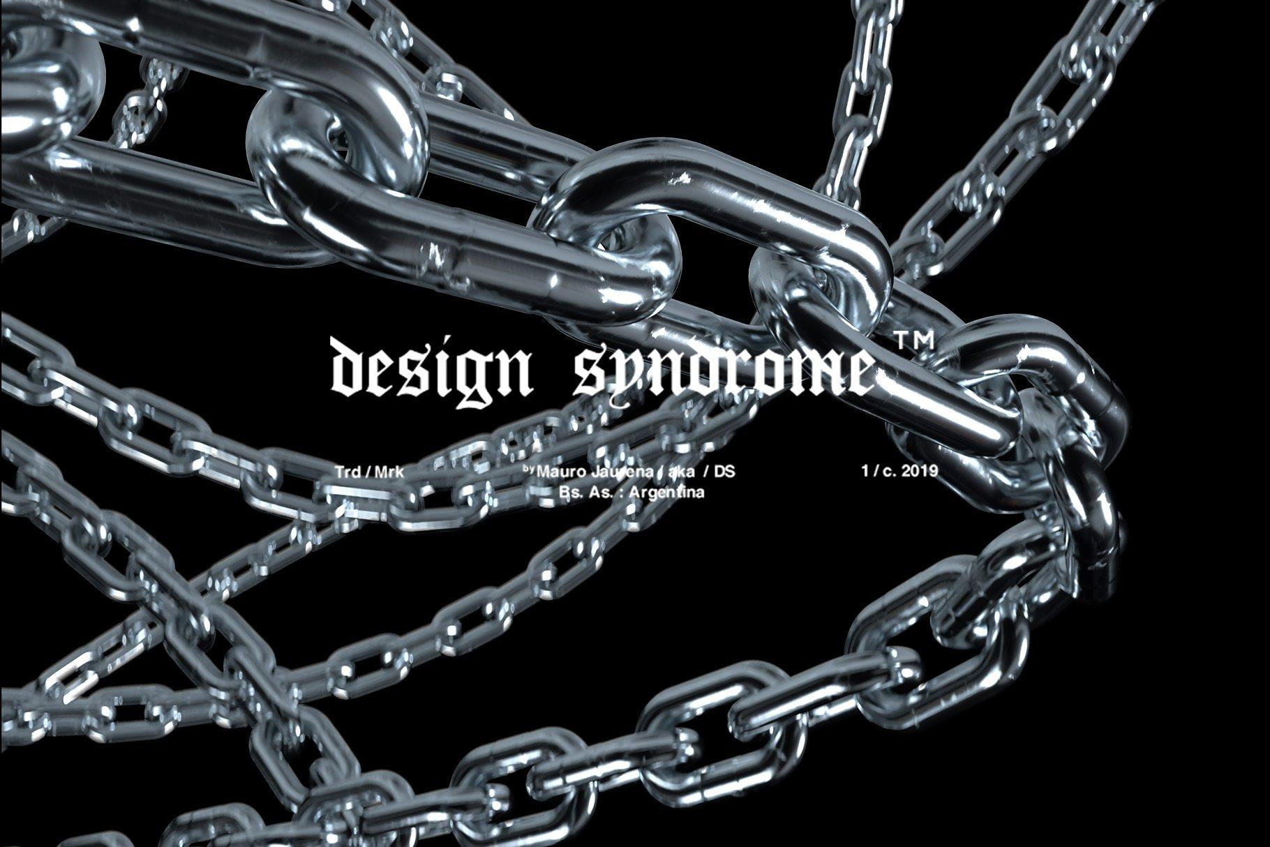 [单独购买] 50款潮流炫酷金属质感锁链海报设计背景PNG免扣图片素材 Design Syndrome – Chainz PNG Pack插图4
