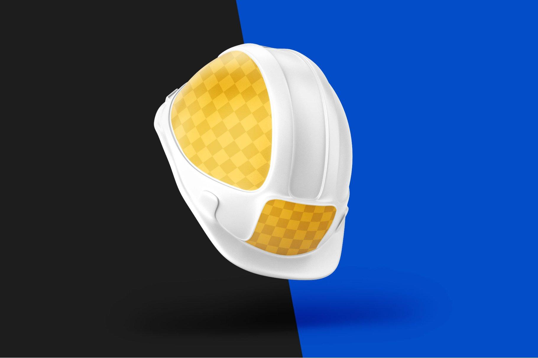 8款逼真工程安全帽头盔设计样机PSD模板素材 Construction Hard Hat Mockup Set插图4