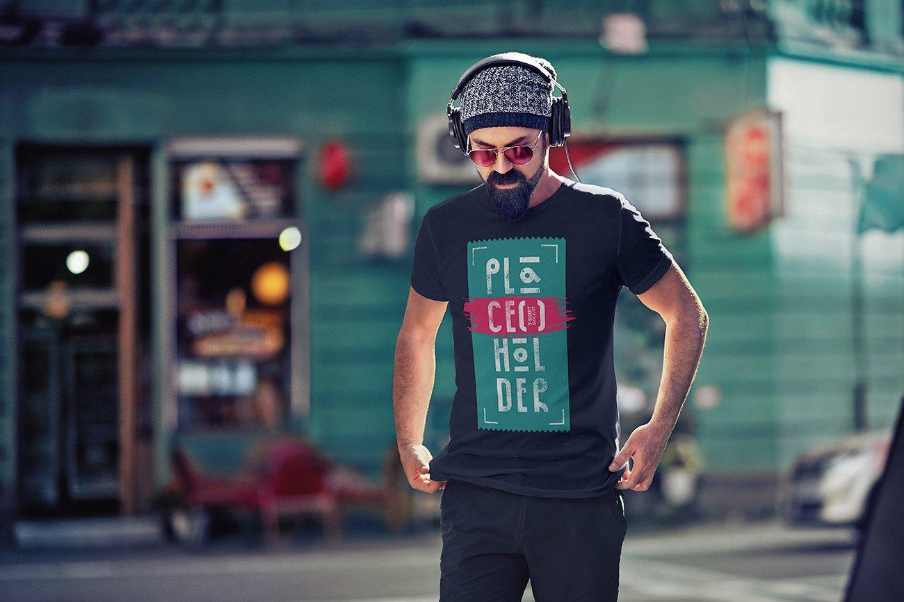 10款时尚半袖T恤印花图案设计PSD样机模板 T-Shirt Mock-Up Vol.4插图2