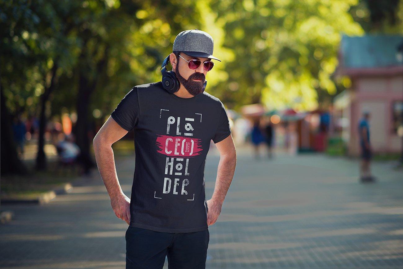 10款时尚半袖T恤印花图案设计PSD样机模板 T-Shirt Mock-Up Vol.4插图7