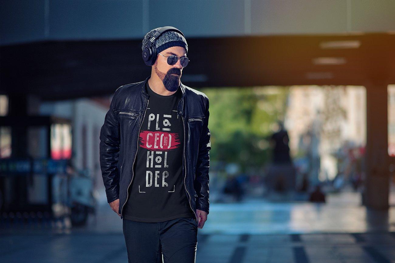 10款时尚半袖T恤印花图案设计PSD样机模板 T-Shirt Mock-Up Vol.4插图10