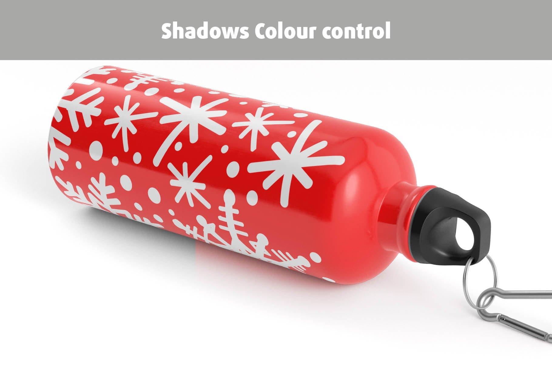 5款不锈钢保温水杯设计智能贴图样机模板 Aluminium Water Bottle Mock-Up插图10