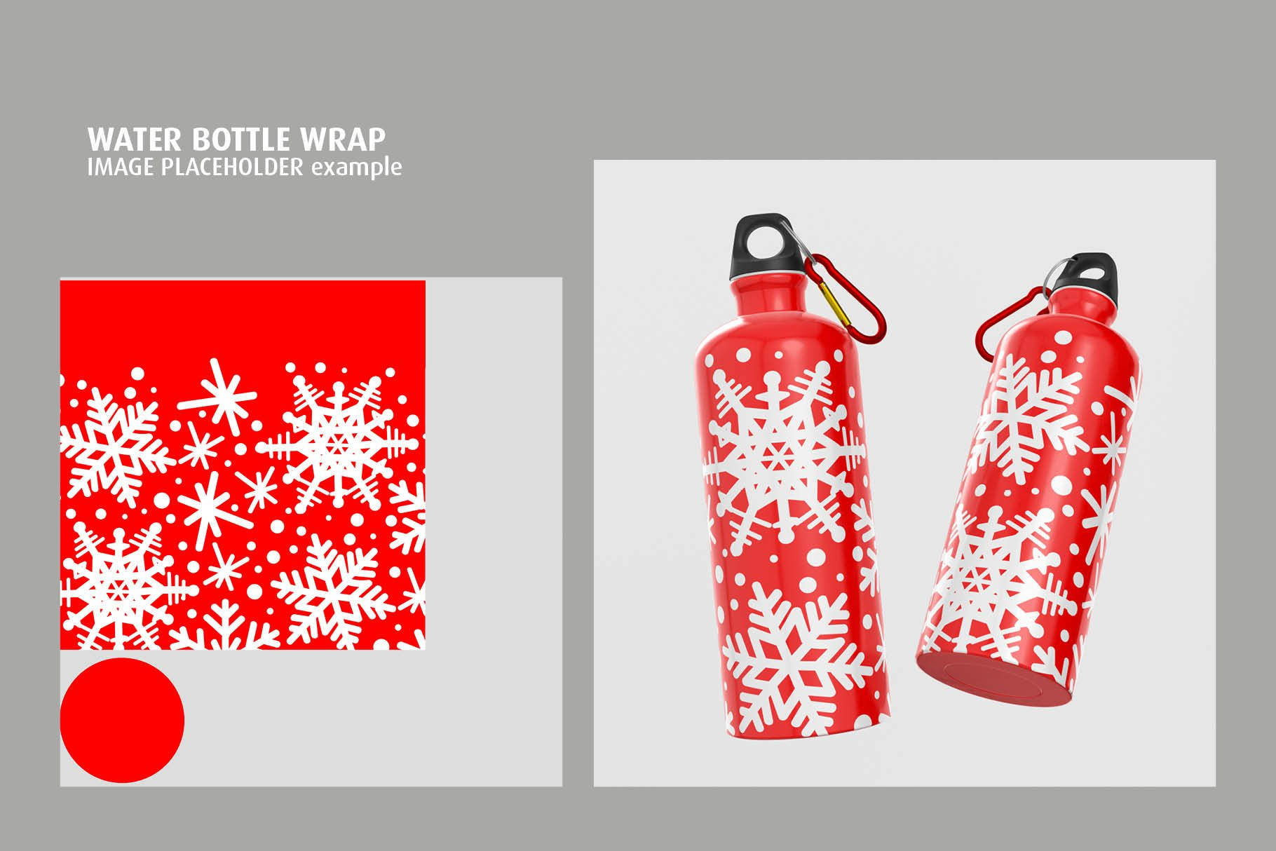 5款不锈钢保温水杯设计智能贴图样机模板 Aluminium Water Bottle Mock-Up插图3