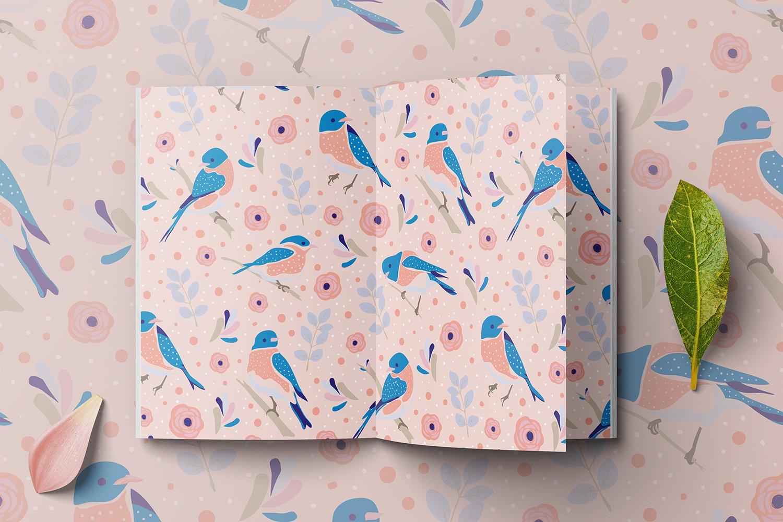 可爱鸟类手绘剪贴画矢量设计素材合集 Backyard Birds Collections插图9