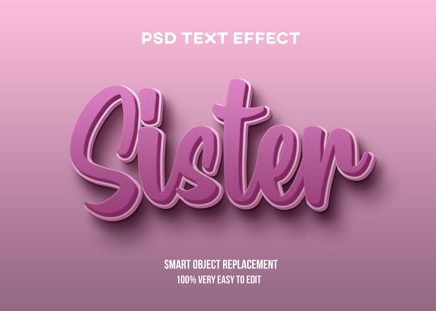 [单独购买] 80款炫彩3D立体海报标题Logo特效字体设计PS样机素材 30 Text Effect Bundle插图67