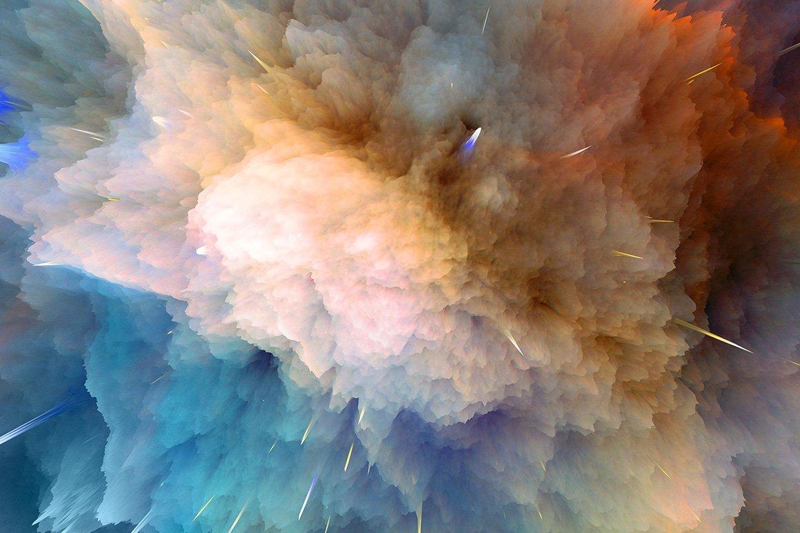 22款抽象空间星球宇宙爆炸背景图片设计素材 Space Explosion Backgrounds插图2