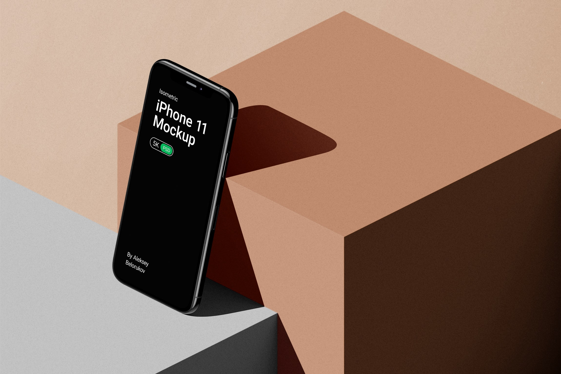 [单独购买] 16款时尚等距APP界面设计苹果设备屏幕演示场景样机模板套装 Device Pack Mockups – Isometric插图20