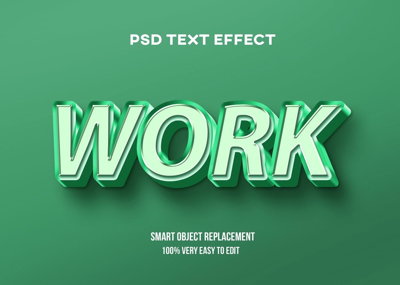 [单独购买] 80款炫彩3D立体海报标题Logo特效字体设计PS样机素材 30 Text Effect Bundle插图77