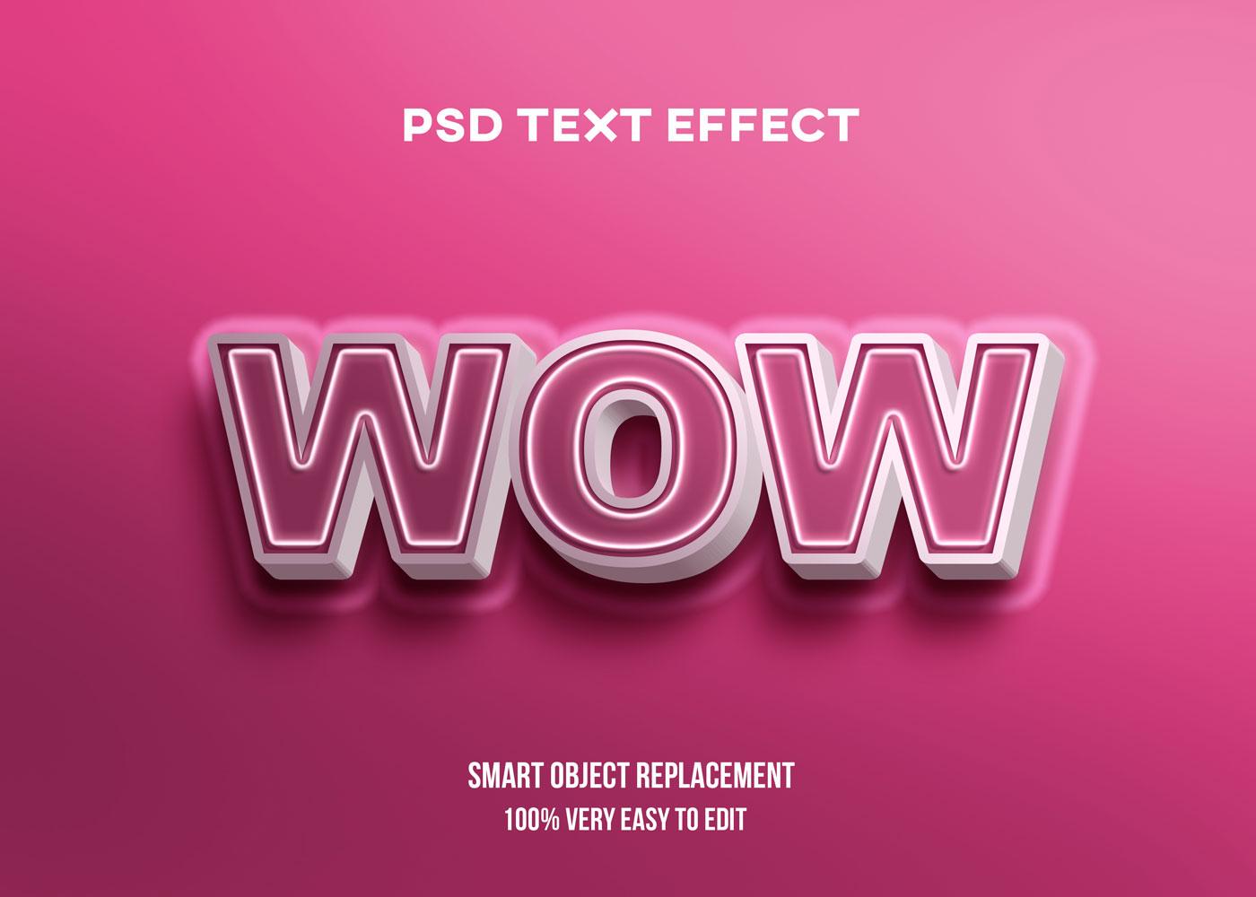 [单独购买] 80款炫彩3D立体海报标题Logo特效字体设计PS样机素材 30 Text Effect Bundle插图78