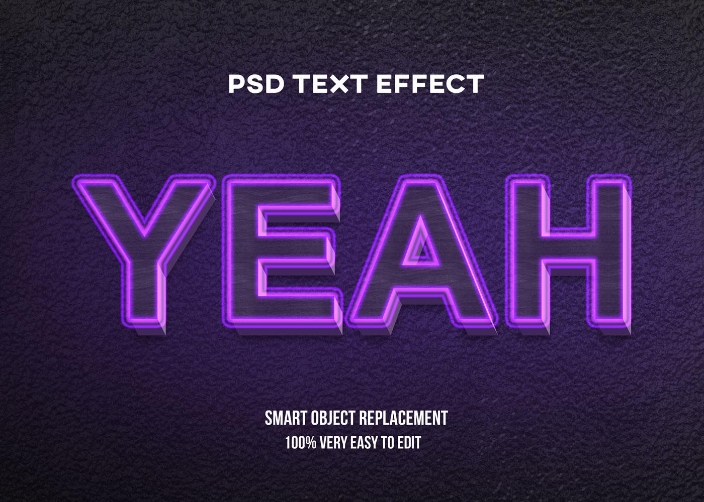 [单独购买] 80款炫彩3D立体海报标题Logo特效字体设计PS样机素材 30 Text Effect Bundle插图79