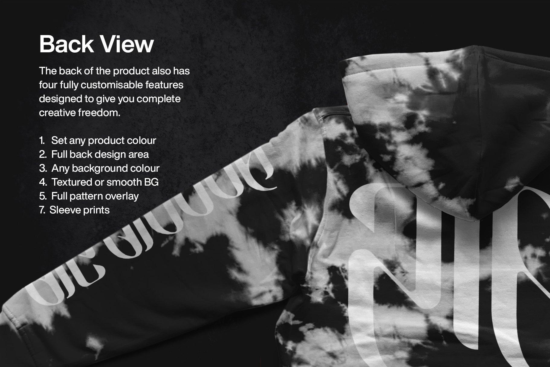 潮流拉链连衣帽卫衣印花图案设计PS智能贴图样机模板 Zip Front Hoodie Mockup插图3