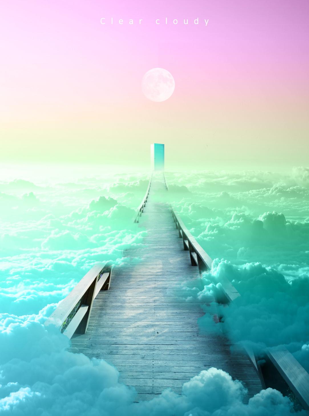 [单独购买] 14款创意梦幻唯美白云云朵企业主视觉KV展板海报设计PSD模版 Cloud Sale Poster Template插图14